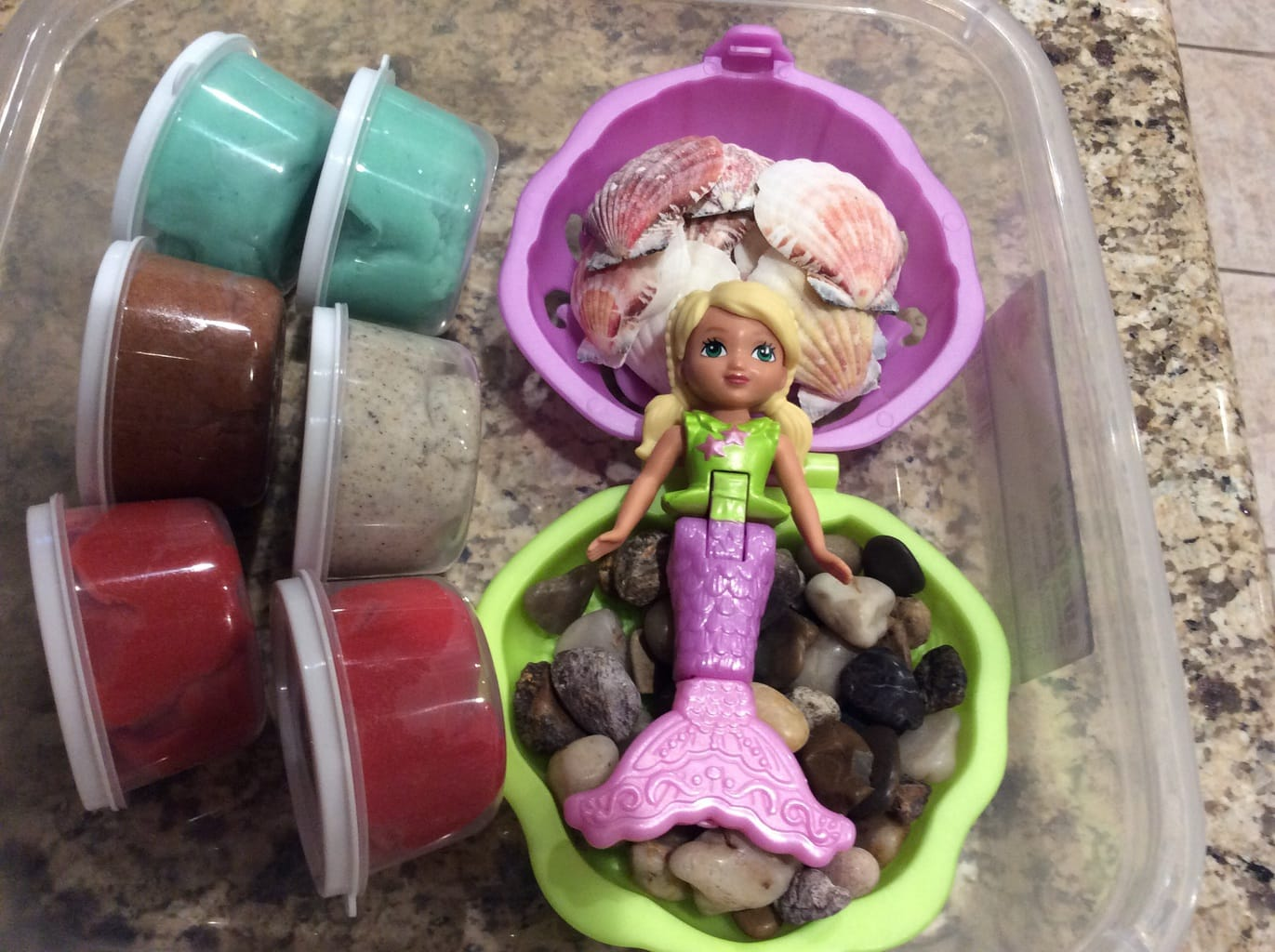 Mermaid Play Dough Set | Aileen Cooks