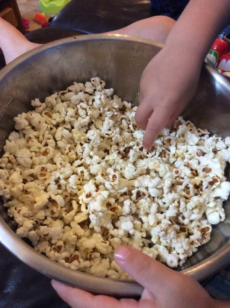 Teach your kids how to make their own popcorn on the stovetop. This recipe takes just 3 simple real food ingredients.