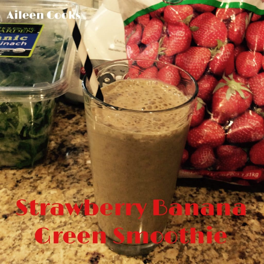 Strawberry Banana Green Smoothie | Aileen Cooks