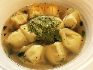 Pesto Tortellini Soup