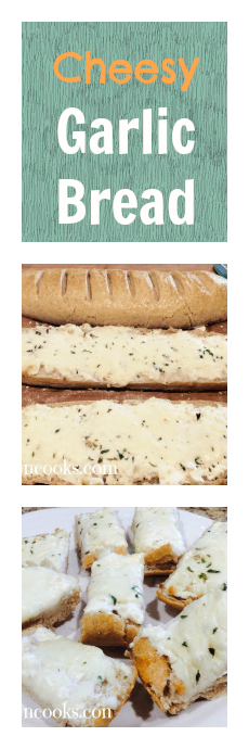 Take your garlic bread to the next level with this cheesy recipe.