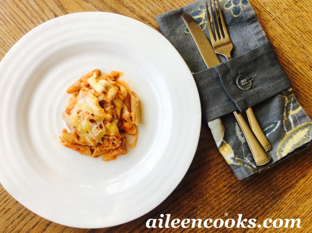 Three Cheese Baked Ziti | aileencooks.com