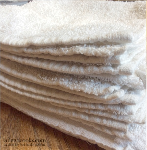 DIY swiffer mop pads. These homemade pads are a great natural cleaning solution and are extremely frugal to make. Article from aileencooks.com