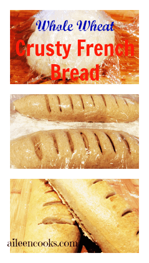 Whole Wheat Crusty French Bread