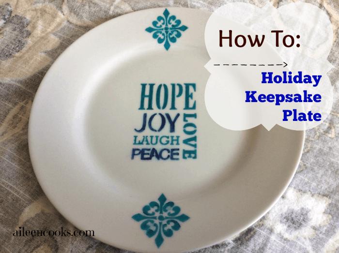 Holiday Keepsake Plate tutorial
