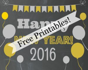 Happy New Year Free Printables Cover