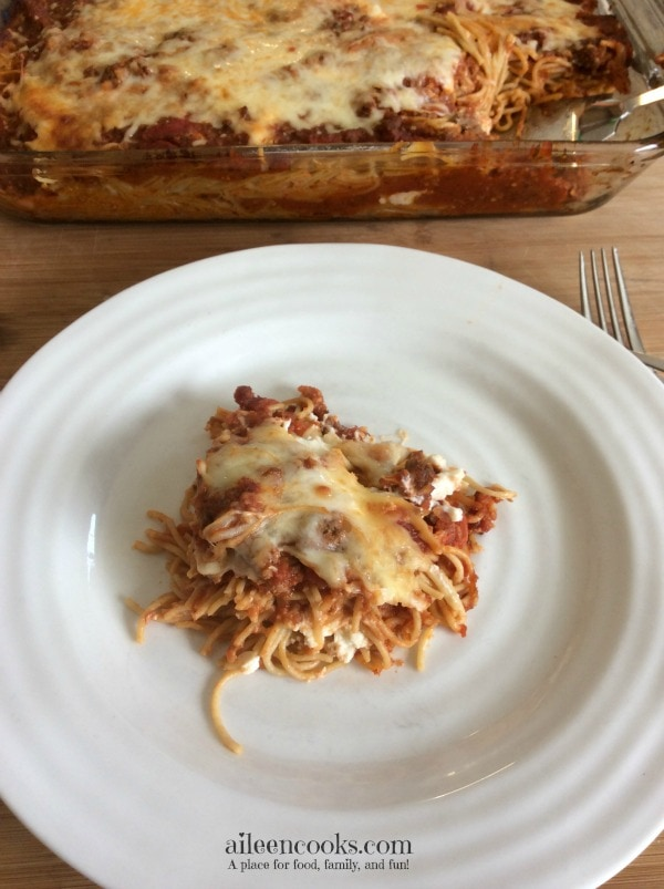 Three Cheese Baked Spaghetti 2