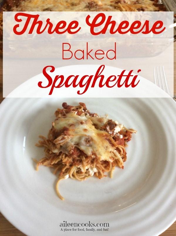 Three Cheese Baked Spaghetti 3