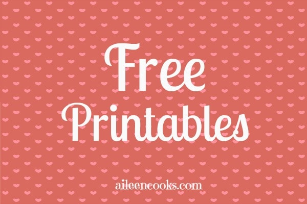 Free Valentines Day Printables from https://aileencooks.com