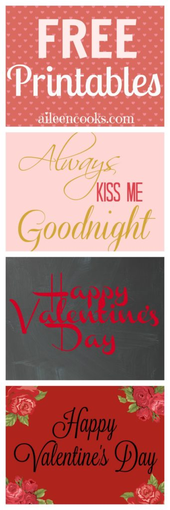 Free Valentine's Day Printables - 8x10 Prints from https://aileencooks.com