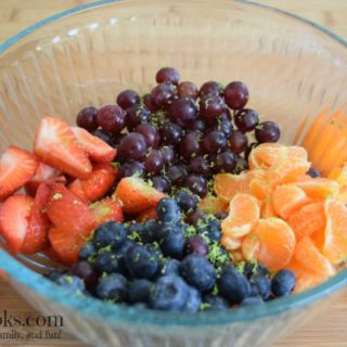 Honey Lime Fruit Salad made with all fresh fruit and tossed with a delicious and light honey lime dressing | https://aileencooks.com