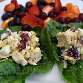 Chicken Salad Lettuce Wraps | aileencooks.com