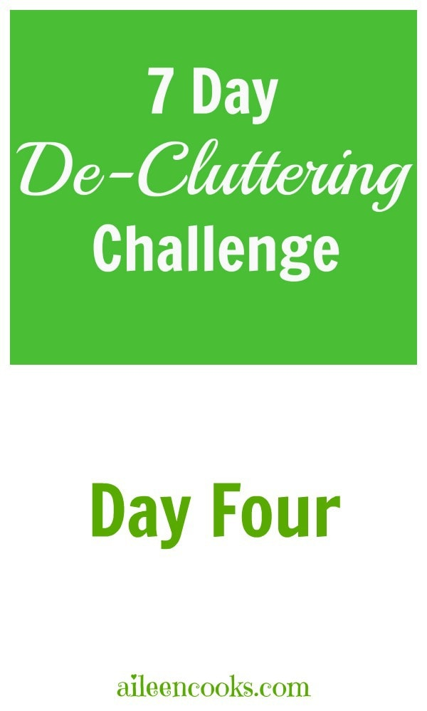 7 Day De-Cluttering Challenge Day Four - Nursery Closet