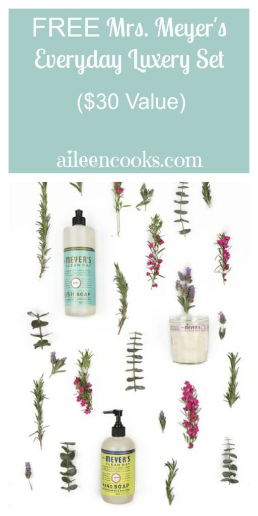Free Mrs. Meyer's Everyday Luxury Set ($30 value) for a limited time when you sign up for Grove Collaborative through aileencooks.com