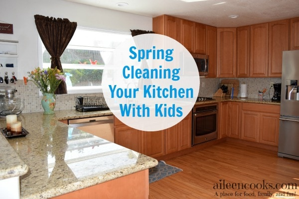Spring Cleaning Your Kitchen With Kids is possible with this step by step guide from aileencooks.com
