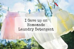 I gave up on homemade laundry detergent https://aileencooks.com