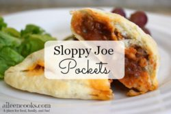 Sloppy Joes with out the mess! Learn how to make these convenience ant delicious sloppy joe pockets from scratch. They are freezer friendly, too!