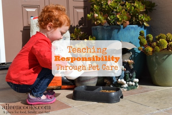 Teaching responsibility through pet care is easy to start with toddlers