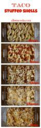 Step-by-step photo of how to make taco stuffed shells