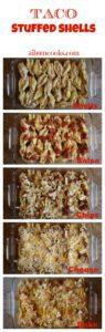 Step-by-step photo of how to make taco stuffed shells