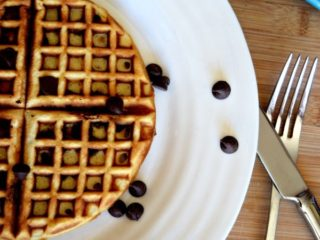 Chocolate Chip Blender Waffles