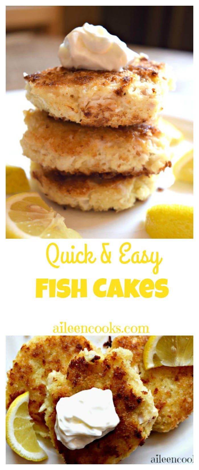 30 minute meal fish cakes aileen cooks for Freezing fish oil