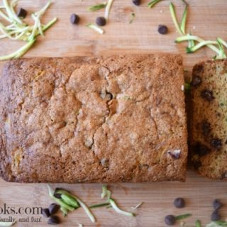 Whole Wheat Chocolate Chip Zucchini Bread. Healthy. Vegetarian. Kid-friendly. https://aileencooks.com
