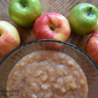 Crockpot Cinnamon Applesauce is the perfect apple recipe for fall. aileencooks.com