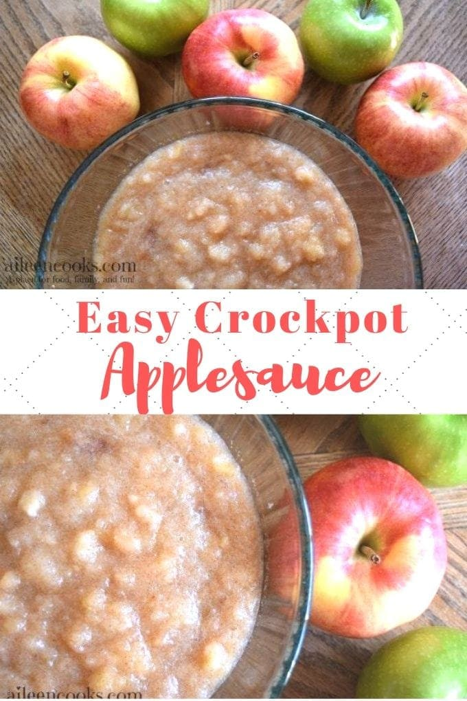 You are going to love this crockpot applesauce recipe! It is the easiest recipe for crockpot applesauce that you will want to make again and again each year!