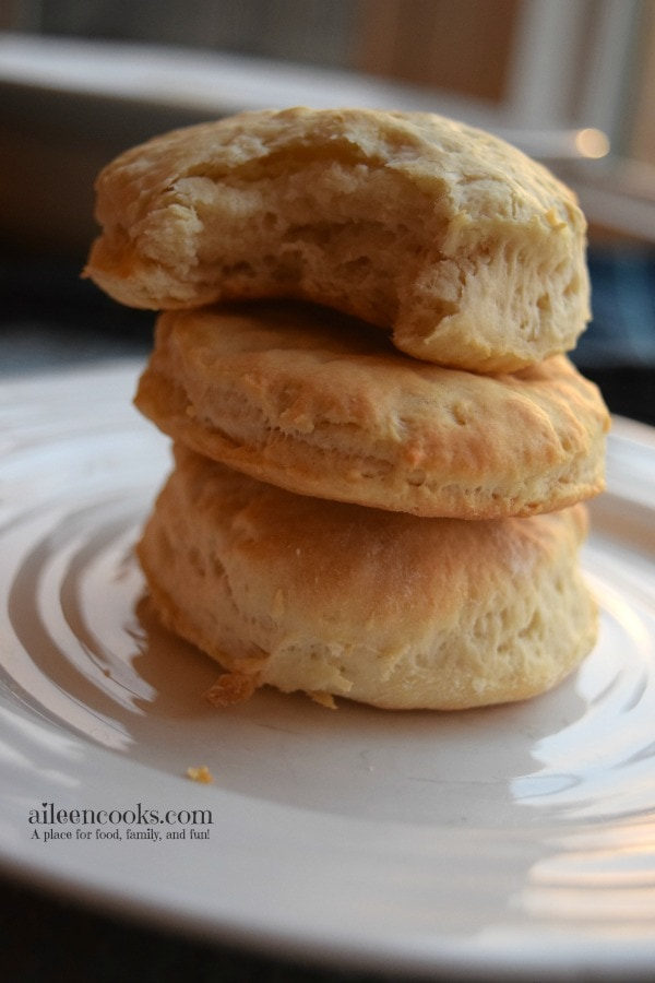 fast and easy biscuits made from scratch make the perfect addition to your thanksgiving or christmas dinner. They also make an amazing topper on soups and stews. Recipe from aileencooks.com.