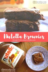 "collage photo of brownies and words ""nutella brownies"""