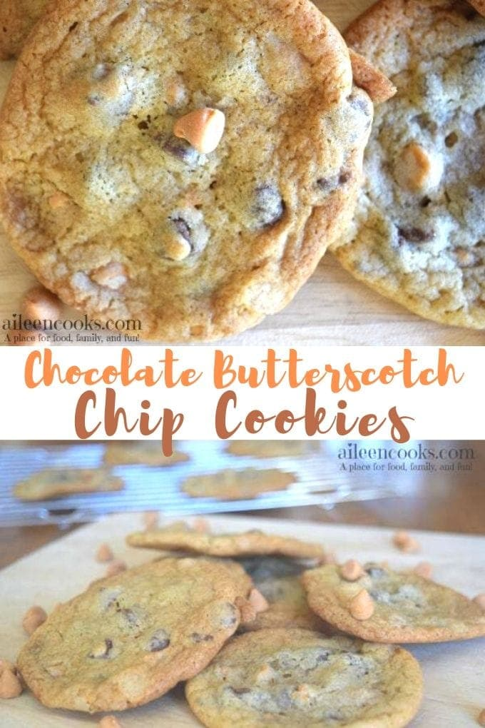 Chocolate butterscotch chip cookies are light and chewy with that distinct brown sugar-butter flavor. These cookies take your standard chocolate chip cookie and kick it up a notch (or two)! You definitely want to add these to your holiday baking list!