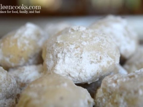 Hazelnut Snowball cookies, often times called mexican wedding cookies or russian tea cakes; are light and buttery and coated with powdered sugar. They are perfect for a cookie exchange or christmas cookie. Recipe form aileencooks.com