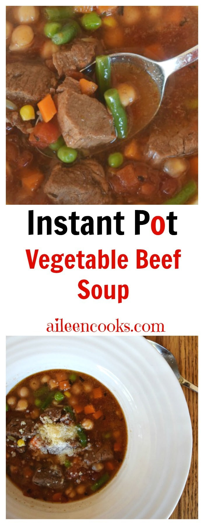 Pressure Cooker Vegetable Beef Soup Aileen Cooks