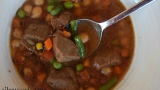 Pressure Cooker Vegetable Beef Soup