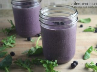 Protein Packed Blueberry Kale Smoothie