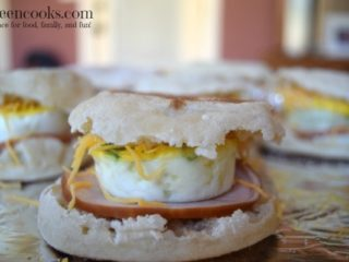 Freezer Friendly Ham and Egg Breakfast Sandwiches