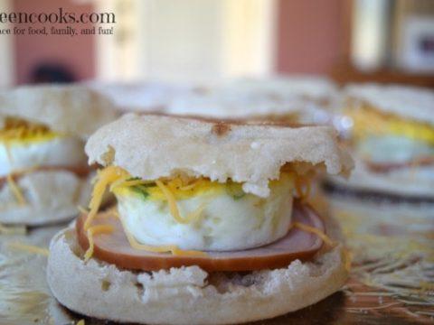 Freezer Friendly Ham and Egg Breakfast Sandwiches