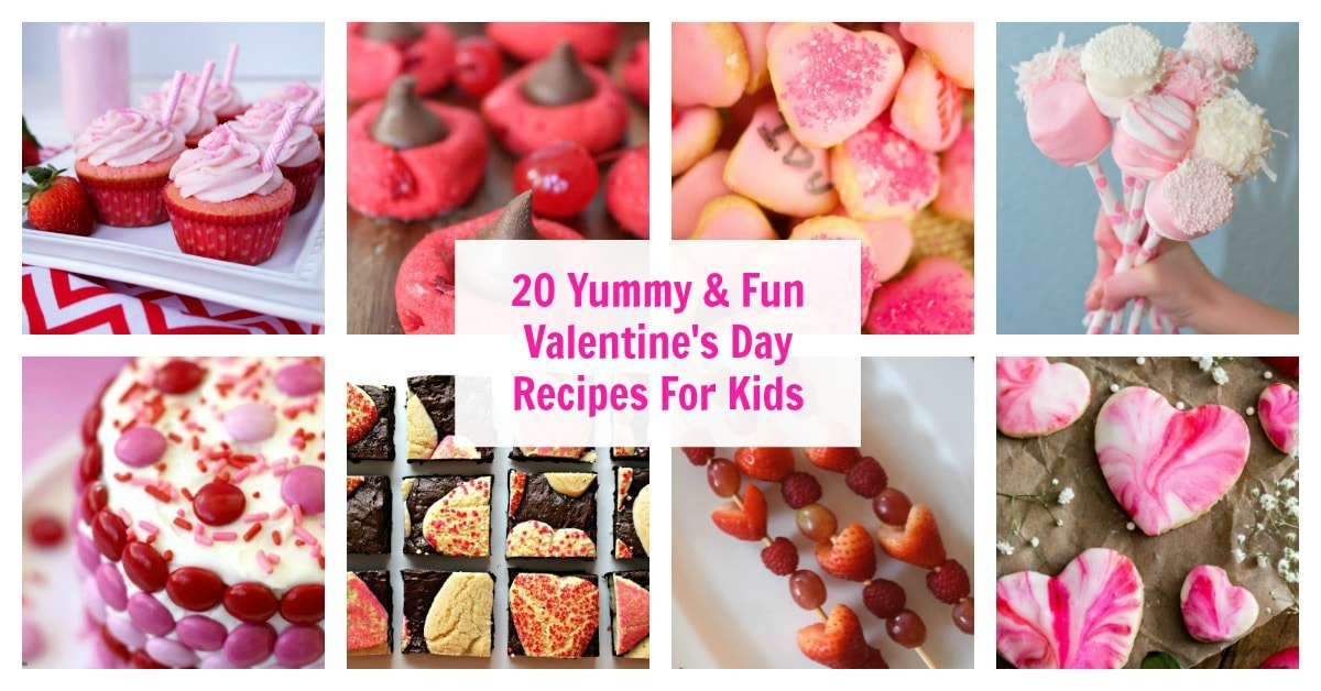 20 Yummy and Fun Valentine's Day Recipes to Make With Kids. Cooking With Kids Recipe Roundup from aileencooks.com.