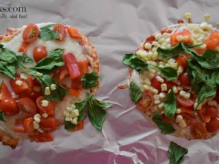Colorful Pita Pizzas