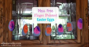 Mess-Free Finger Painted Easter Eggs