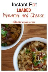 This is the instant pot macaroni and cheese recipe you have been looking for! It's made with two different kinds of cheese and loaded with bacon!