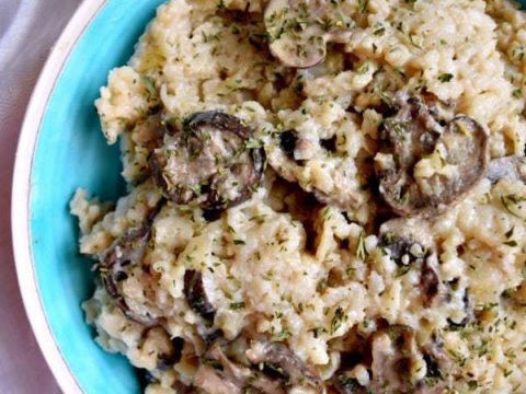 Instant Pot Risotto with Mushroom and Parmesan