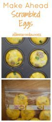 Whether you call them make ahead scrambled eggs, baked eggs, egg cups, or egg muffins, these simple eggs baked in a muffin tin are perfect for weekly meal prep and can save a lot of time on busy mornings. Breakfast is so important, but it can often be overlooked when you're busy trying to take care of the rest of the people in your family and make sure they are dressed/fed/clean and ready for the day.