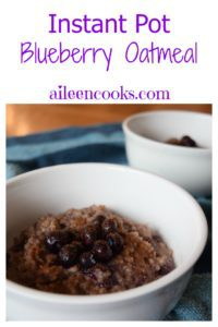 Make breakfast easy with this instant pot blueberry oatmeal!