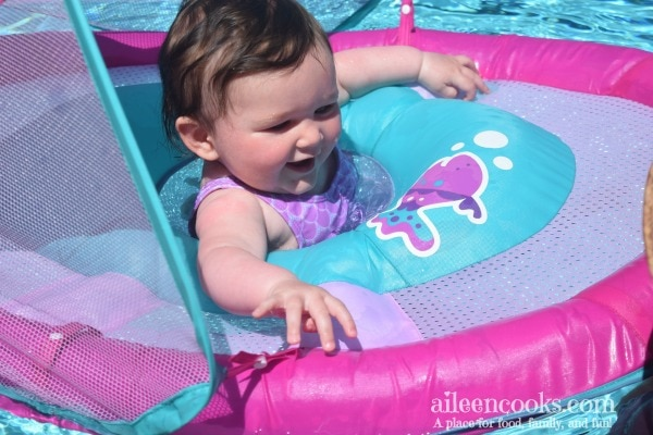Make your baby's first trip to the pool easy and fun! See how this mom of three non-swimming kids made baby's first swim a fun and non-stressful experience for the whole family!