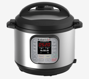 instant pot electric pressure cooker on a white background