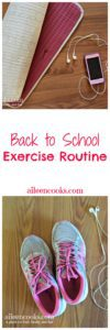 Back to school exercise routine for an out of shape mom of 3!