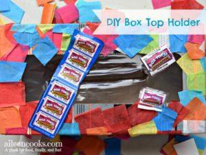 DIY Box Tops Holder