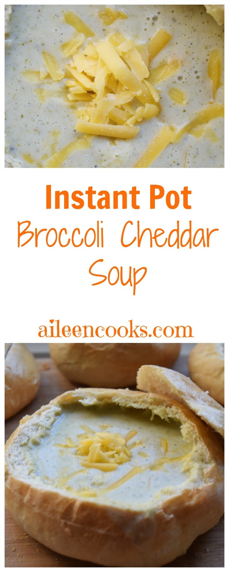 Make cheesy and creamy Broccoli Cheddar Soup in your Instant Pot Electric Pressure Cooker in under an hour with this easy to follow recipe.